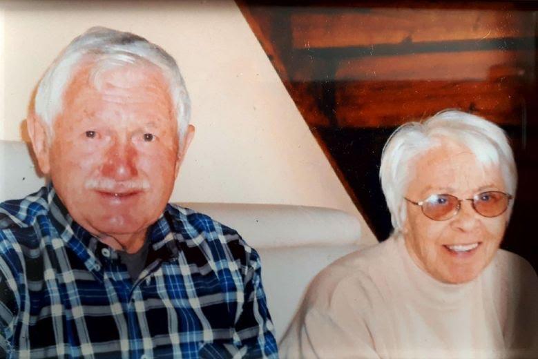 Georges Bordes avec son épouse.